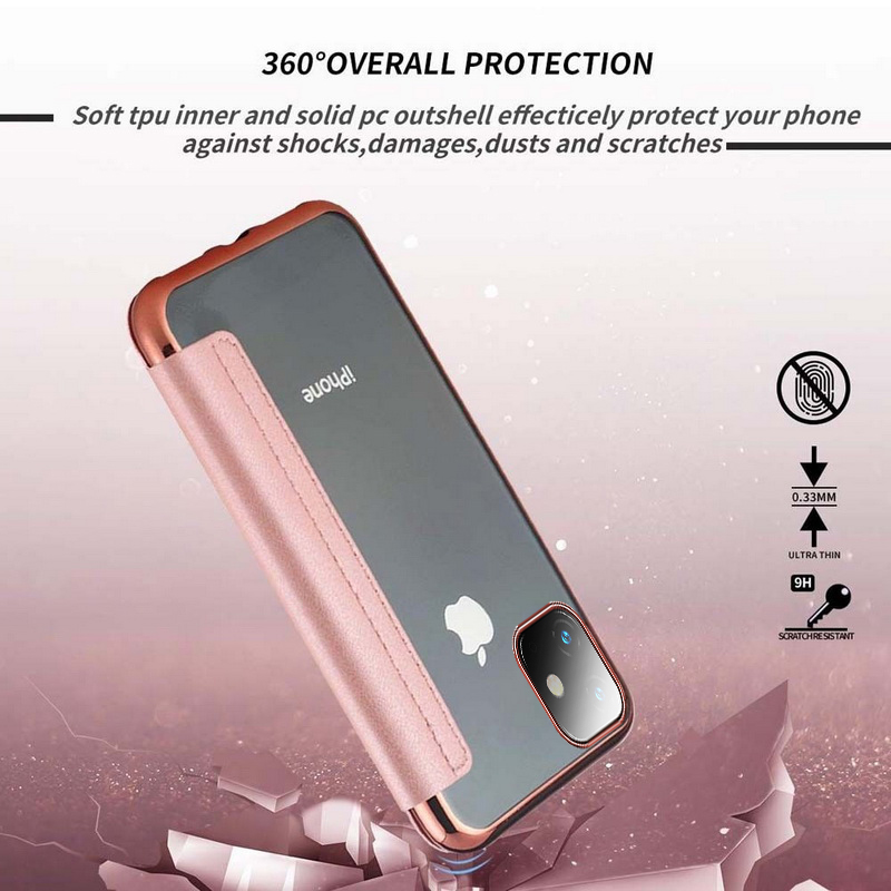 H8f24ff6a37bc4d1499d9683037b5a200t Luxury Wallet Flip Book PU Leather Phone Case For iPhone 11 XR XS Max 5 5S SE 6 6S 7 8 Plus Transparent Clear Back Cover Shell