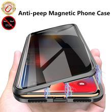 Nuova custodia per telefono in metallo con vetro temperato magnetico per Samsung S10 S8 S9 Plus Coque 360 magnete pellicola protettiva antispia