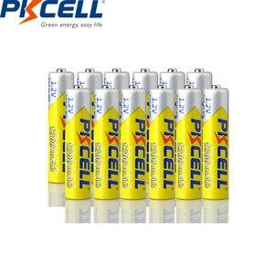 Image 4 - 8 個/2 カード pkcell 1.2 v ニッケル水素 aaa 充電式電池 aaa 1200 で 1000 サイクルバッテリー led 懐中電灯自転車ランプ