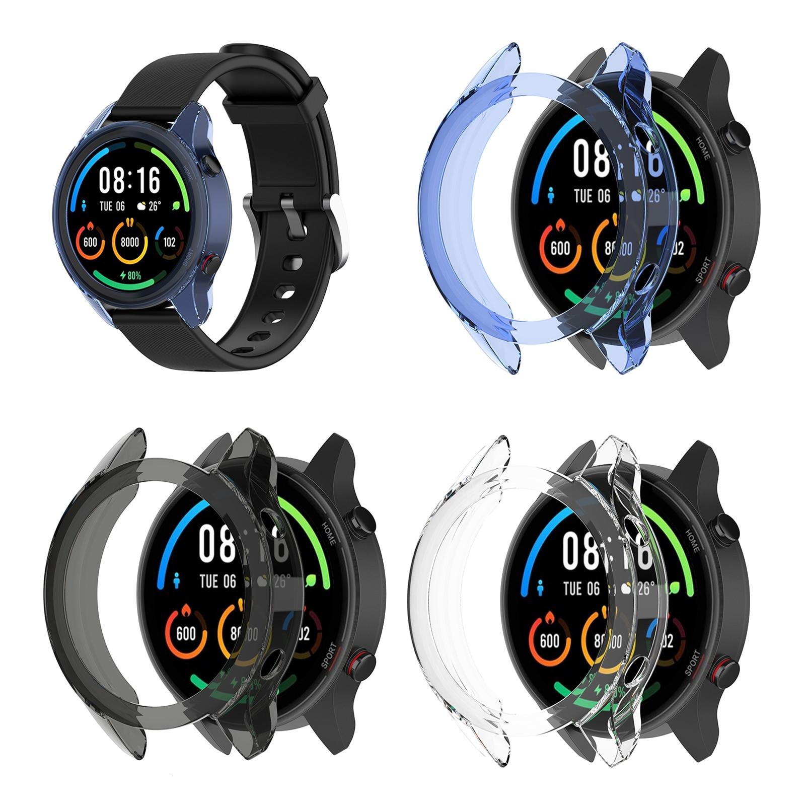 Защитный чехол для цветных часов Xiaomi, высококачественный чехол из ТПУ, тонкий бампер для умных часов Xiaomi Mi, цветные часы|Смарт-аксессуары|   | АлиЭкспресс