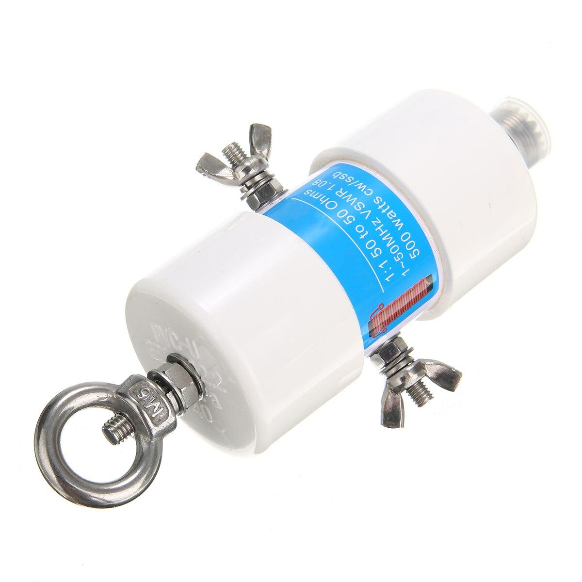 1pc Durable 160 m-6 m bandes 1.8-50MHz 500W étanche HF Balun 1:1 tension universelle Balun pour antenne à ondes courtes Balun 87*45mm