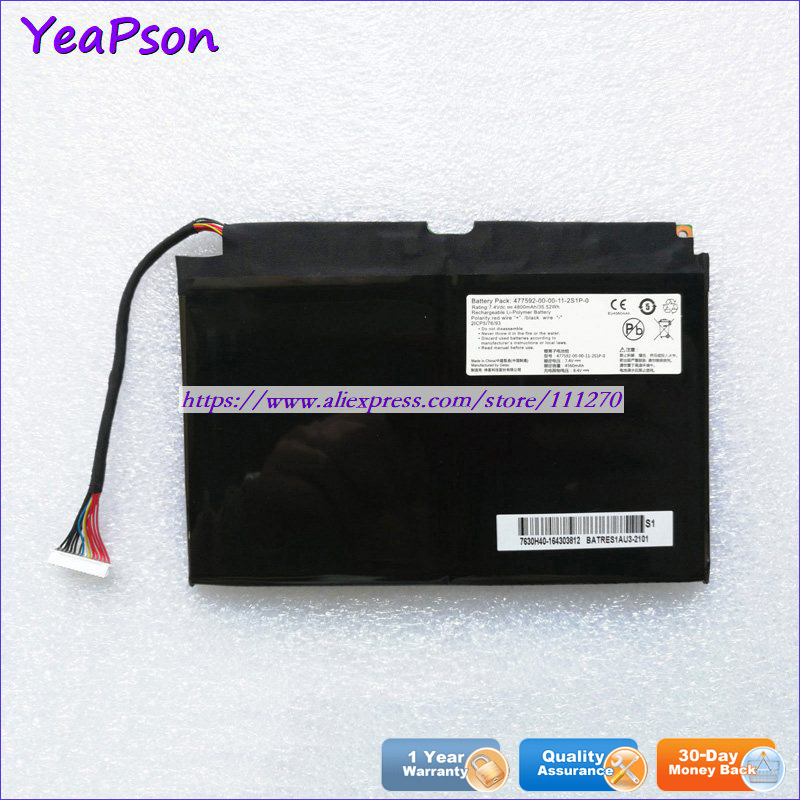 Yeapson 7.4V 4800mAh Genuine 477592-00-00-11-2S1P-0 Laptop Battery For Medion Akoya S4219 S4220 S6219 S6421 Tongfang S2K S5(China)