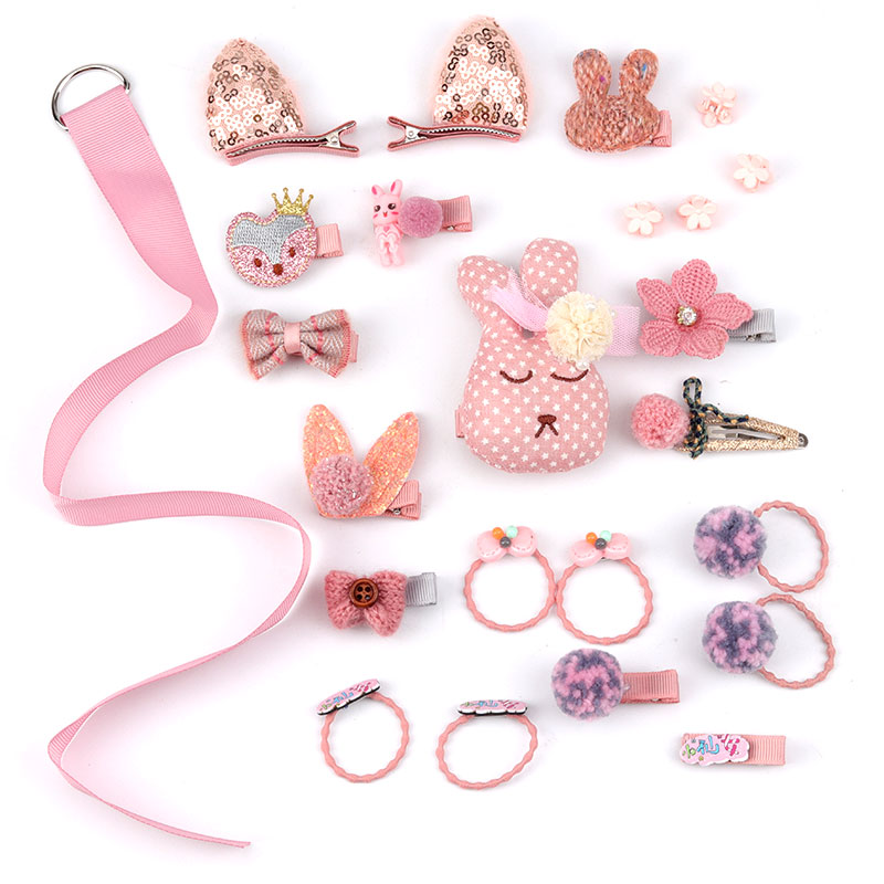 Children's Hair Accessories Set Baby Hairpin Rubber Band Girl Birthday Holiday Gift Cartoon Hair Accessories Grab Clip