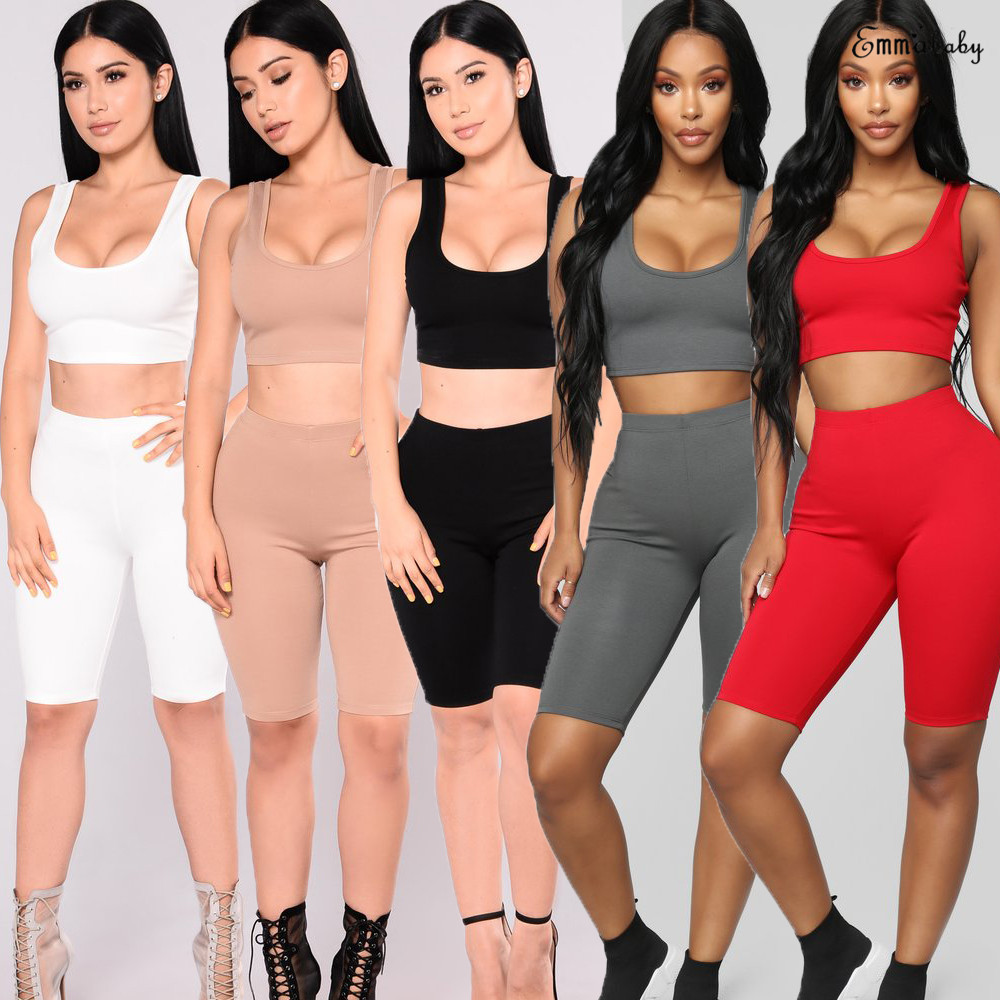 2pcs Set Women Sports Suit Crop Top Pants Outfit Yoga Workout Clothes Tracksuit Yoga Sets Aliexpress