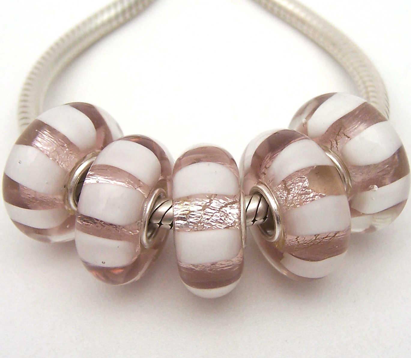 JGWGT 1935 5X 100% Autenticità S925 Sterling Silver Perle di Murano perle di Vetro Europeo Adatto Pendenti e Ciondoli Braccialetto di diy dei monili di Lampwork