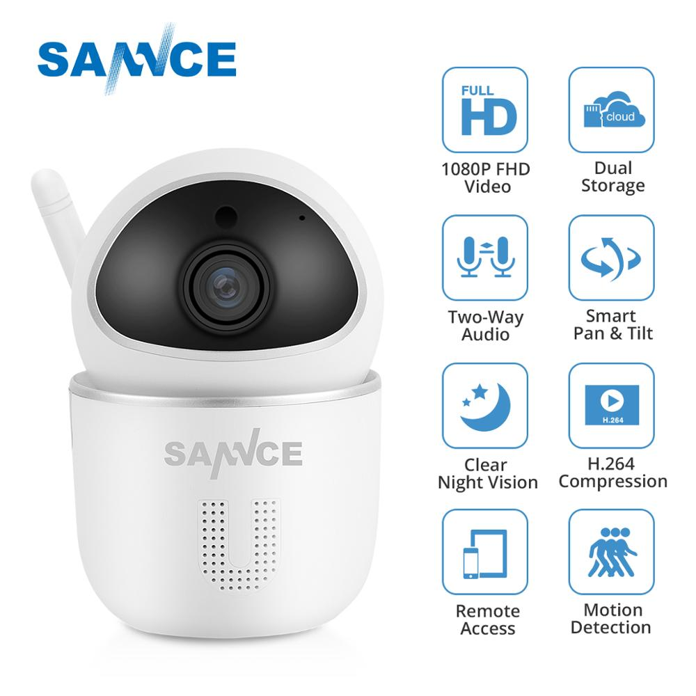 SANNCE 1080P Wireless Wi-fi IP Camera Home Security IP Camera 2MP Wifi Surveillance Indoor Camera IR Night CCTV Cam Baby Monitor