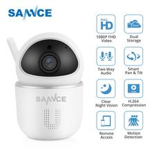 SANNCE 1080P Wireless Wi-fi IP Camera Home Security IP Camera 2MP Wifi Surveillance Indoor Camera IR Night CCTV Cam Baby Monitor home security hd 1080p ip camera wi fi cctv cam security network kamera wifi wireless ip kamery baby monitor audio mini camera