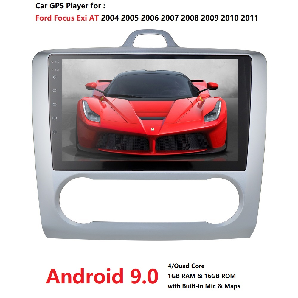 Ossuret 4G WIFI 2DIN 9 Inch Android 9.0 <font><b>GPS</b></font> Navigation Touchscreen Quad-core Car Radio For 2004 <font><b>2005</b></font> 2006-2011 <font><b>Ford</b></font> <font><b>Focus</b></font> Exi AT image