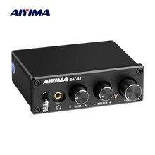 Dekoder dźwięku AIYIMA koncentryczny dekoder USB regulacja tonów niskich DAC ze wzmacniacz słuchawkowy do kina domowego