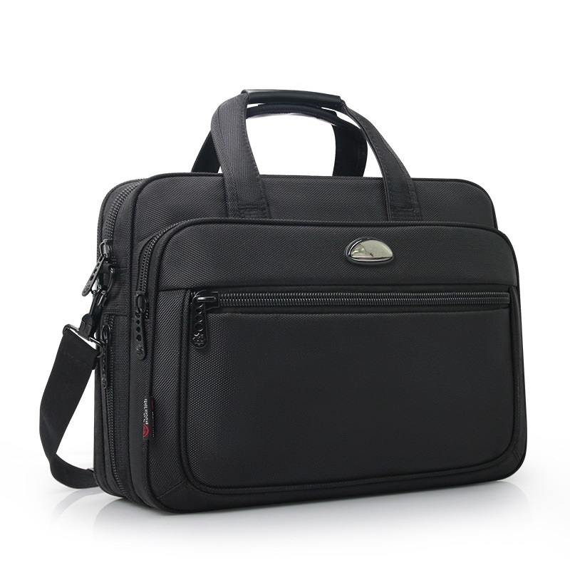 Business Men High Quality Extensible Waterproof Oxford Black 14 Inch Laptop Briefcase