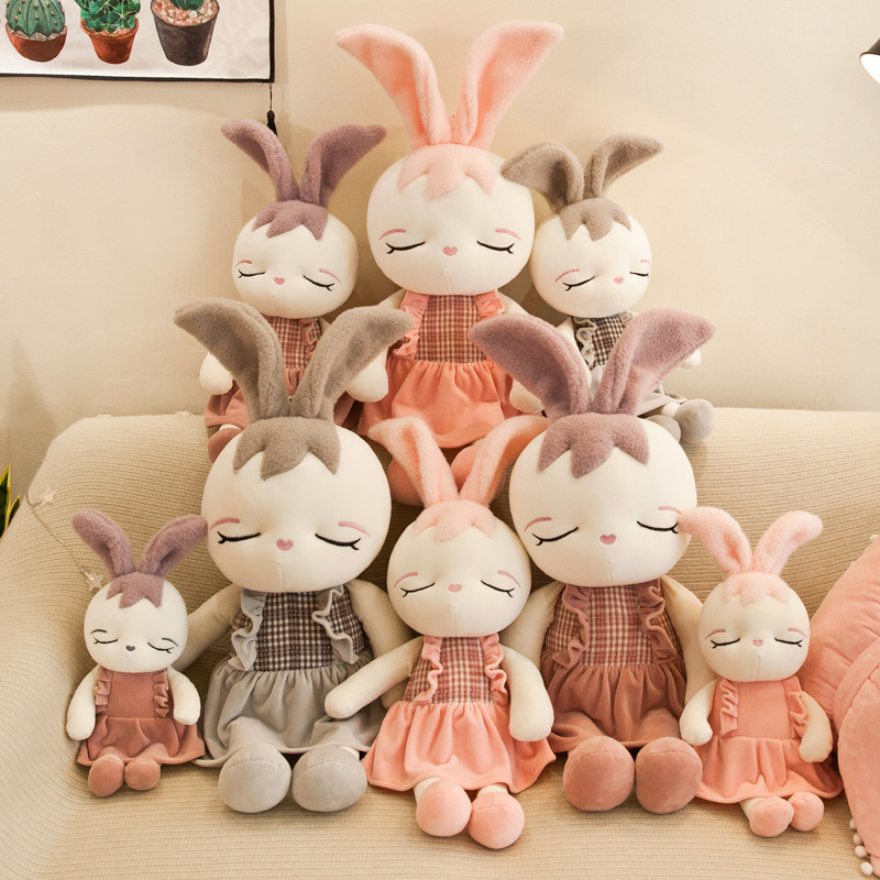 Cute Rabbit Plush Toy Baby Doll Cartoon Animal Plush Rabbit Doll Toy Sleeping Companion Companion To Appease Children's Day Gift