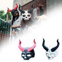 Страшная маска 3d декор Фотография Хэллоуин ручной работы бумага искусство креативный фестиваль Бар головной убор вечеринка костюм Diy модел...