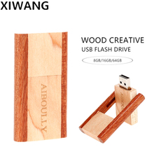flash memory stick 4GB 8GB Pen drive 16gb pendrive 32gb usb 64gb Real capacity wooden 8gb Free custom LOGO