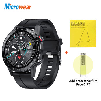Microwear L16 Smart Watch Men Sports Fitness Tracker IP68 Waterproof Heart Rate Monitor Android IOS Full Touch Screen Smartwatch 7