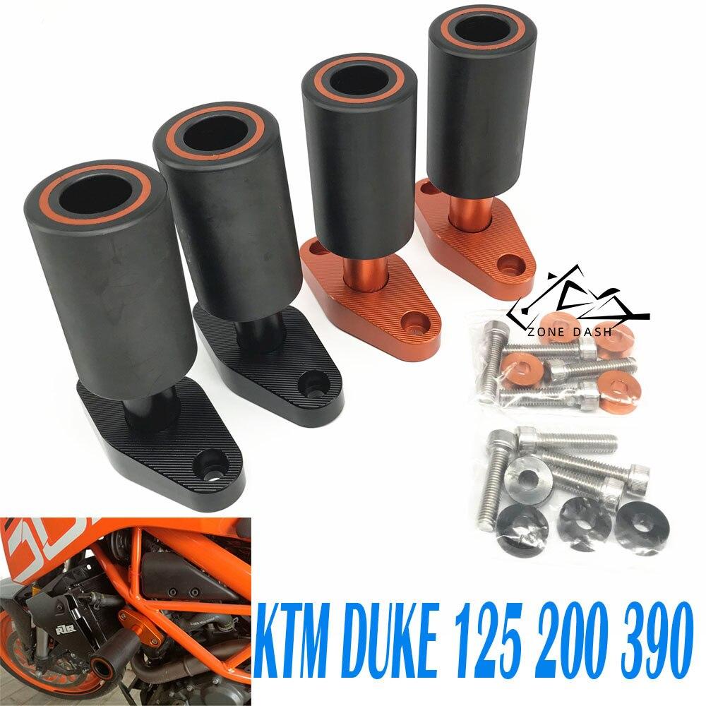 Мотоцикл CNC штанга анти падение пластиковый корпус анти падение Рама Ползунки анти осенняя Защита подходит для KTM DUKE 200/125/390 2012 2018|Защита от падения|   | АлиЭкспресс