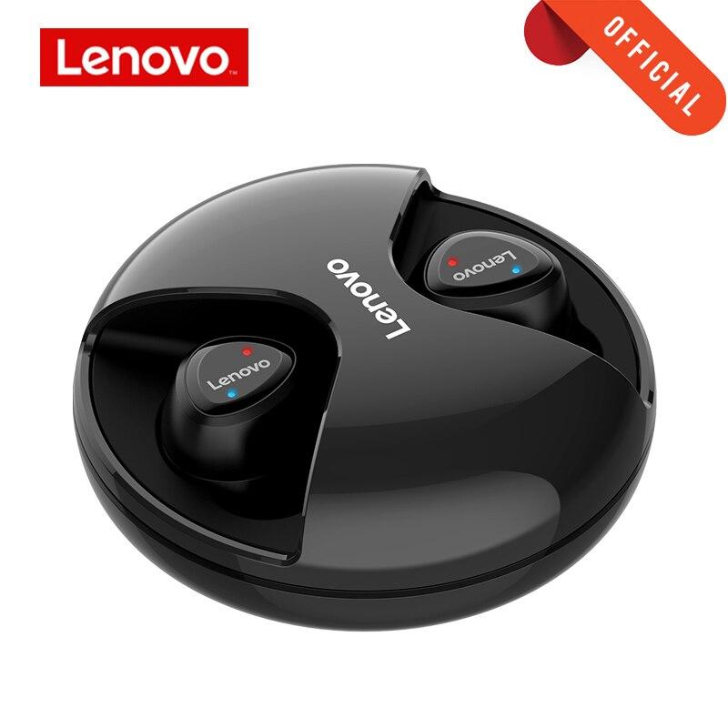 Écouteurs Bluetooth Lenovo avec micro iphone Android, écouteurs Bluetooth R1 TWS, véritables oreillettes sans fil, double stéréo, de sport,