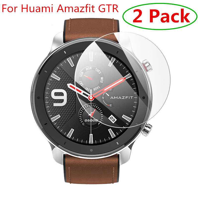 2pcs For Xiaomi Huami Amazfit Verge 3 Tempered Glass Screen Protector For Amazfit GTR 47 42mm Protective Accessories Film Guard