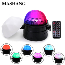 LED Night Light Stage Light Laser Projector Sound Activate Rotating Ball Light Laser Effect LED Mini Disco Ball Christmas freeshipping 30 pack led colony stage effect light led white strobe combined with red green laser rgbwa rotating derby effect