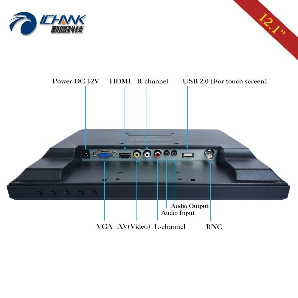 B120JC ABHUV 2/12 1024x768 4:3 tela padrão usb vga hdmi monitor de toque do pc/12.1 ordenando tela de toque resistive da máquina da posição - 5