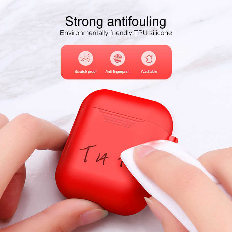 Headphones Case Box for Airpods Bluetooth Silicone Headphones Drop-proof Covers Headset Protective Sleeve Cover Earphones Box