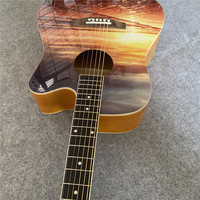 DIY pictures folk guitar, custom guitar, any photo can be made to the guitar. Folk guitar custom. Free shipping.