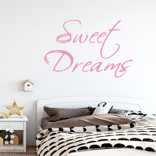 Sticker Bedroom Decals Sweet-Dream Home-Decoration Girl Room Wall-Art Quote for Naklejki