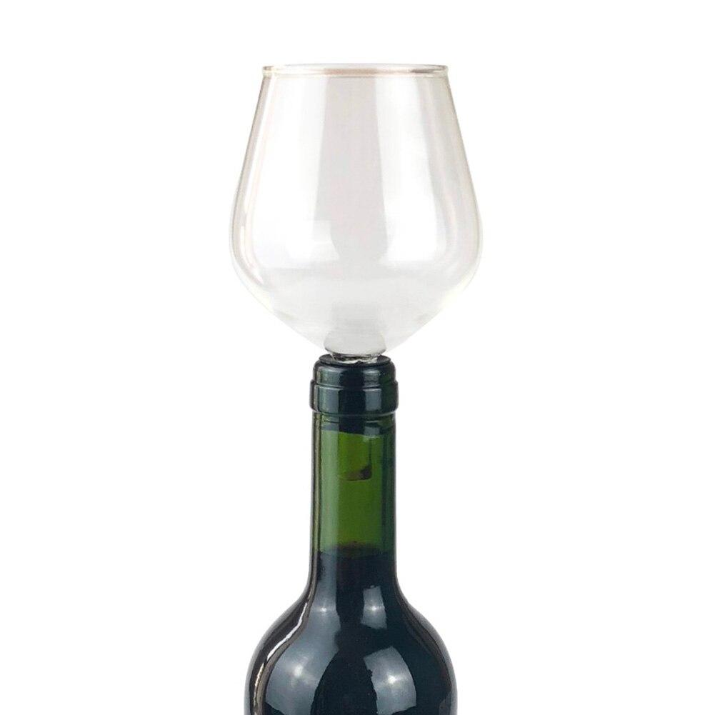 Bebida de borosilicato de diseño elegante de 13cm x 7cm directamente de botella de vino transparente copa de champaña Copa Barware fácil de limpiar LuKLoy LED luces colgantes espejo bola de cristal fuegos artificiales lámpara colgante para desván restaurante Bar Comedor Cocina isla