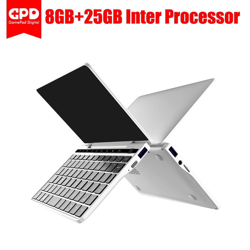 GPD Pocket 2 8GB 256GB 7 Inch Touch Screen GPD Pocket2 Mini PC Pocket Laptop Notebook CPU Intel Celeron 3965Y Windows 10 System