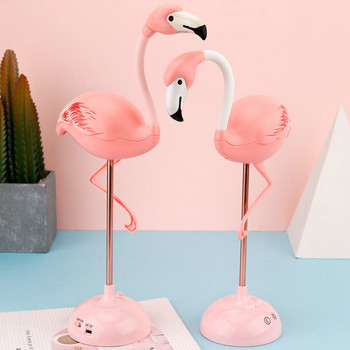LED Flamingo Night Lights  Children Reading  Touch Table Lamp Decor for Living Room Bedroom USB Charging Light Cartoon Lampara creative strawberry silicone led night light eye protection touch atmosphere lamp children cartoon usb charging table lamp