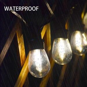 Солнечный садовый светильник S14 лампы струнный светильник s Глобус гирлянда с 3 Вт панели солнечных батарей небьющиеся лампы водонепроницае...