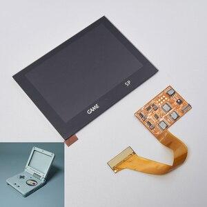 Image 2 - LCD أطقم شل الإسكان 5 مستوى السطوع تسليط الضوء على GBA SP IPS مغلفة عرض ل GAMEBOY مسبقا SP الخلفية PRE CUT قذيفة