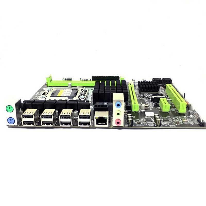 X58 Материнская плата Lga 1366 Ddr3 Ecc/Reg поддержка памяти для Xeon X5550 X5675 X5680 X5690 E5520 E5540 сервер