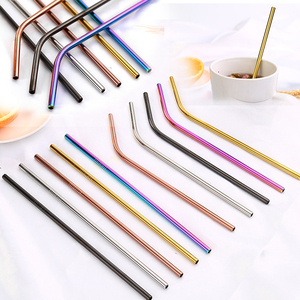 Reusable Metal Drinking Straw 304 Stainless Steel Metal Straws 2019 High Quality Bar Party Accessories Pajitas Acero Inoxidable