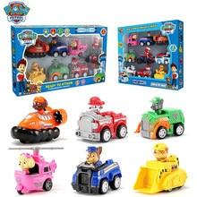 Pata patrulha carro brinquedo conjunto filhote de cachorro patrulha cão patrulla canina figuras de ação modelo perseguição marshall ryder veículo carro do miúdo brinquedo presentes