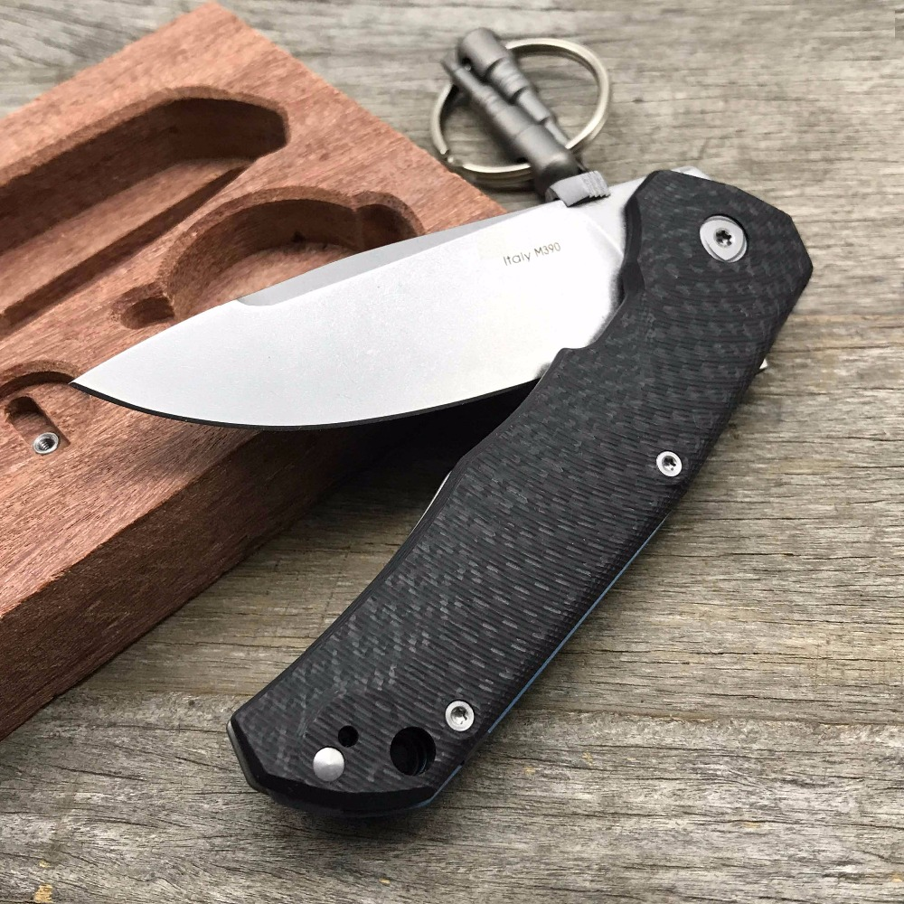 LDT Lion TRE Folding Knife M390 Blade Carbon Fiber Titanium Handle Outdoor Camping Hunting Survival Knive Tactical  EDC Tool