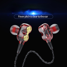 Wired Earphone High Bass Dual Drive Stereo In-Ear Earphones With Microphone Computer Earbuds For iPhone Samsung Cell Phone anbes wired earphones high bass dual drive stereo v3 headphones sport headset with microphone computer earbuds for phone samsung
