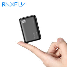 Raxfly mini banco de potência 10000 mah powerbank carregador portátil bateria externa móvel para xiaomi iphone tipo c usb display digital(China)