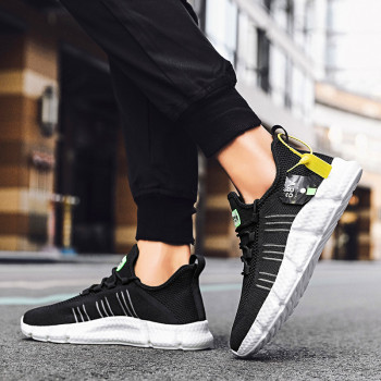 2020 New Sneakers Mens Running Shoes Ultralight sports high top socks shoes trendy Lace-up Zapatillas De Hombre