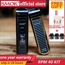 SMOK RPM40 Pod Kit Vape 1500mAh Battery 4.3ml pod Cartridge RPM Mesh Coil 4.5ML kit Electronic Cigarette Vaporizer