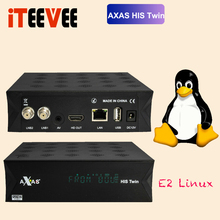 Axas His Twin DVB S2/S HD Satellite TV Receiver WiFi + Linux E2 Open ATV 6.4 TV Box support OScam CCAMS