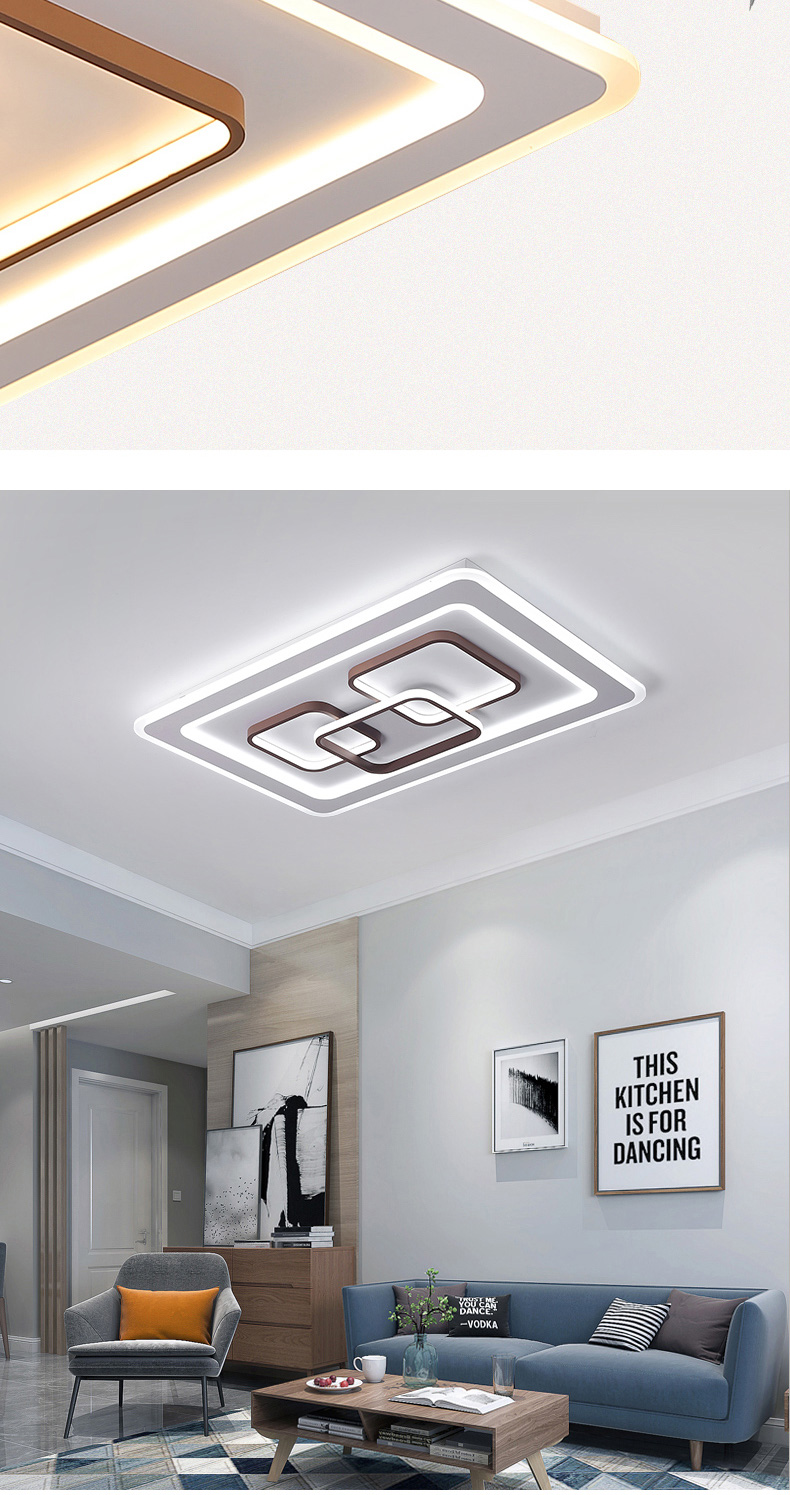 H8f275a967088442faf77173073a51029L LED Surface Mount Ceiling Lights | Ceiling Mount Light Fixture | Square/rectangle Modern LED Ceiling Light with 2.4g RF controller ceiling Lamp for Living Room Bedroom led lamp Surface mounted ceiling lights