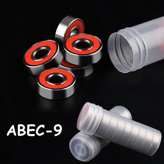 10PCS ABEC 9 608 2RS Stainless Steel Bearings High Performance Anti-rust Roller Skate Scooter Skateboard Wheel Bearings 8x22x7mm
