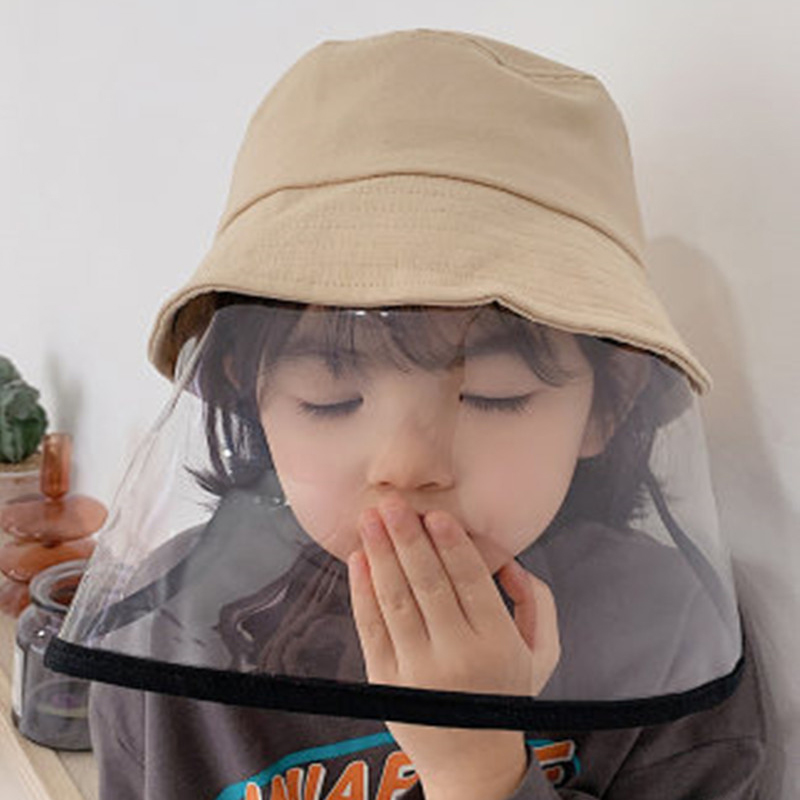 Children Protection Anti-droplet Cap Spittle Bucket Hat Korea Shawl Kids Baby Beach Hat Dustproof Summer Sun Visors Hat