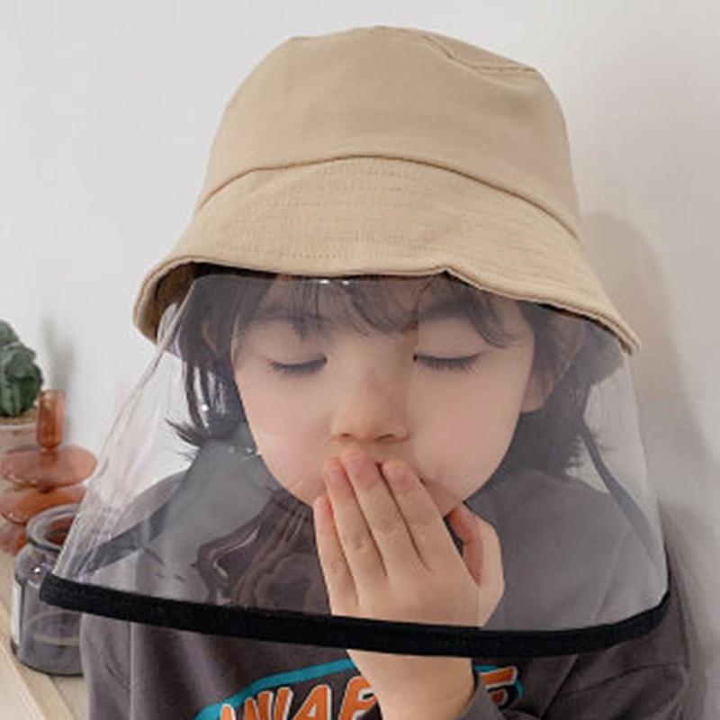 Children Protection Anti-droplet Cap Spittle Bucket Hat Korea Shawl Kids Baby Beach Hat Dustproof Summer Sun Visors Hat