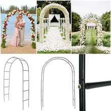 Arco de hierro decorativo para boda, Fondo de jardín, pérgola, marco de flores para boda, cumpleaños, decoración para fiesta de boda, arco DIY