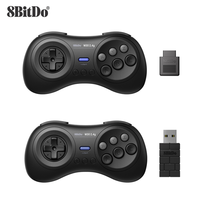 8BitDo M30 2.4G Wireless Gamepad for Sega Genesis/Gega Genesis Mini and Mega Drive/Mini - Sega Genesis Wireless Game Controller