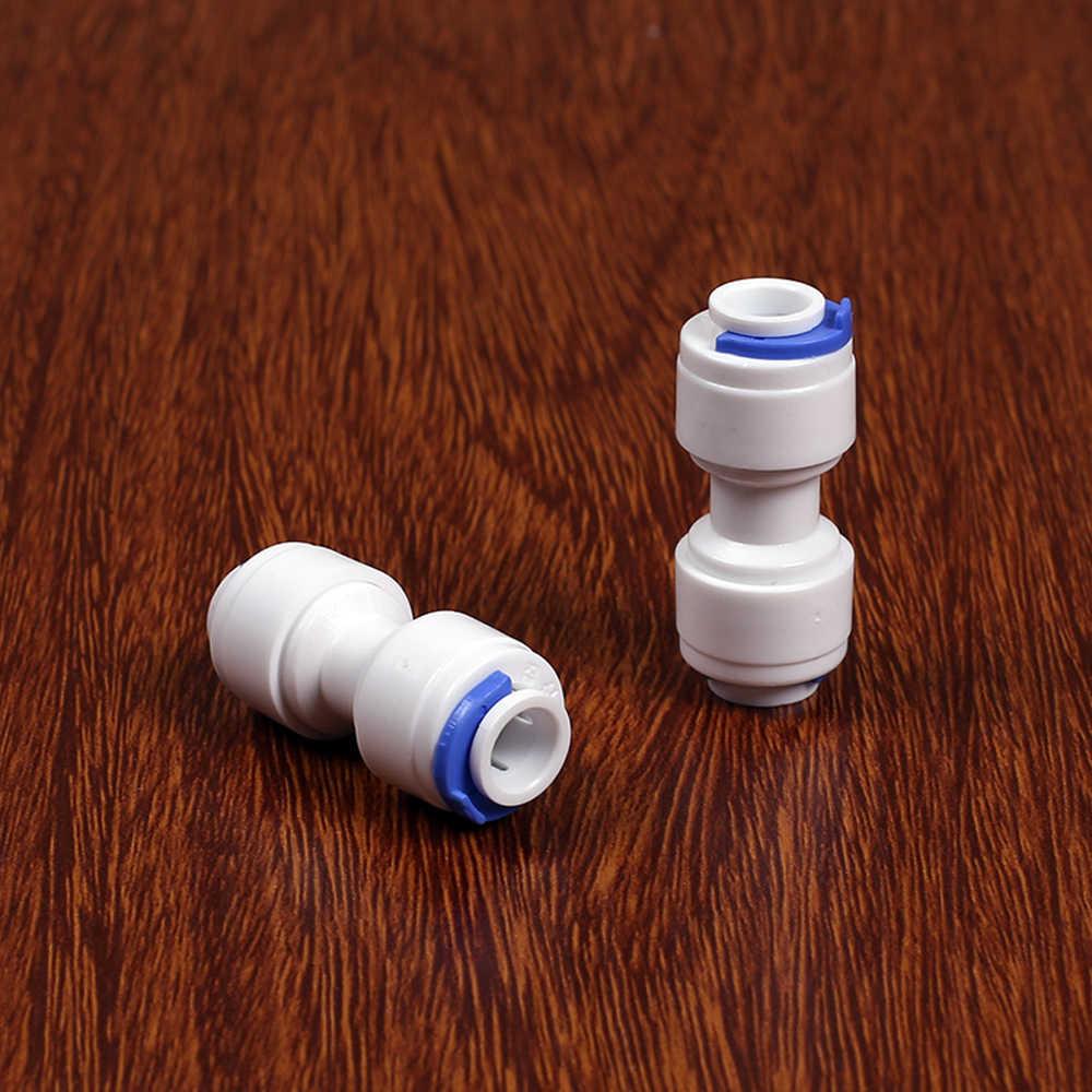 """Fit 1/4 """"6.35mm OD tüp düz gıda sınıfı POM hızlı bağlantı konnektörü akvaryum RO su filtresi ters osmoz sistemi"""