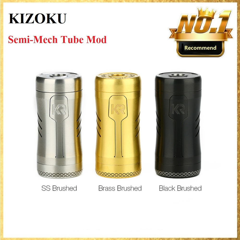 Original KIZOKU Kirin Semi-Mech Tube Mod Powered By 18350/ 18650 Battery & 24mm Diameter E-cig Vape Mod VS GEN /Vinci X / Drag 2