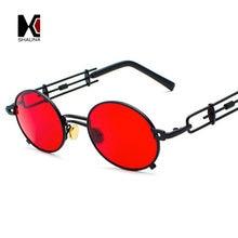 Мужские Овальные Солнцезащитные очки shauna винтажные в металлической