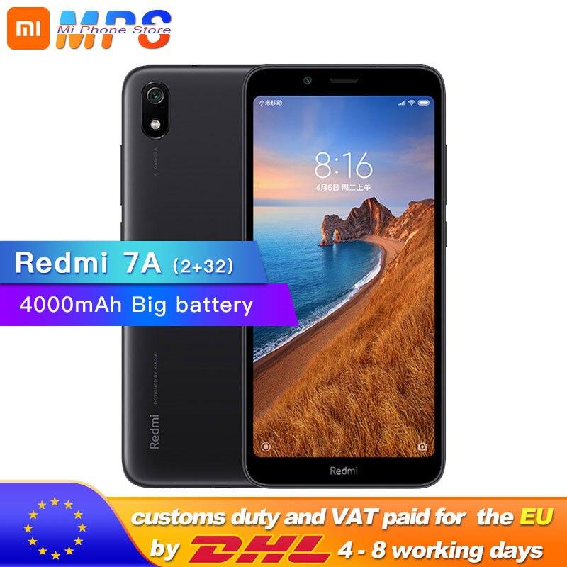Фото. Xiaomi Redmi 7A 7 A 32GB rom 2GB ram 5,45 дюйм Snapdargon 439 Восьмиядерный мобильный телефон 4